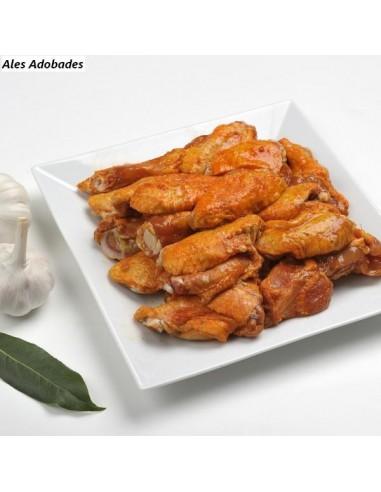 Aletes de pollastre adobades