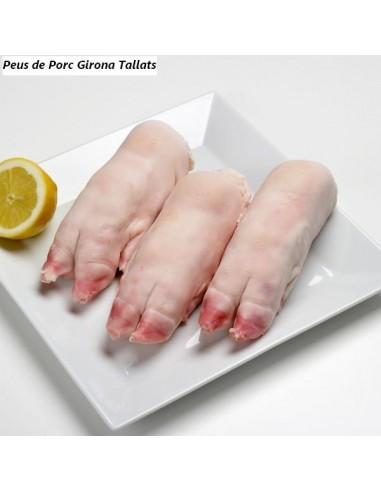 Peus de porc tallat per la meitat