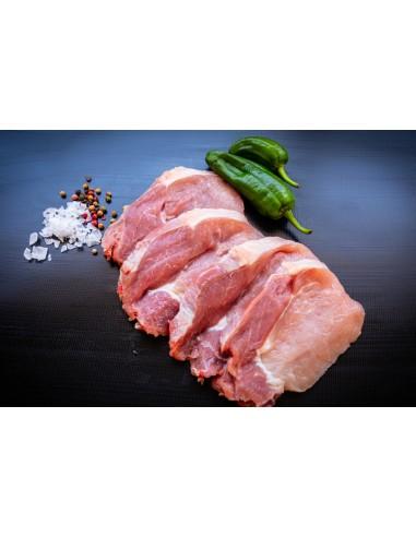 Cap de llom de porc tallat