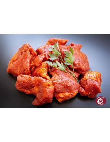 Carn adobada vermella