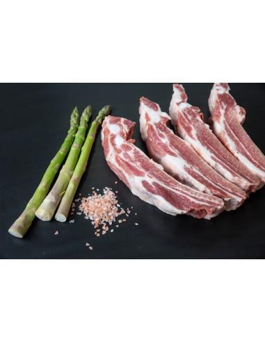 Costilla de cerdo cortada a palos