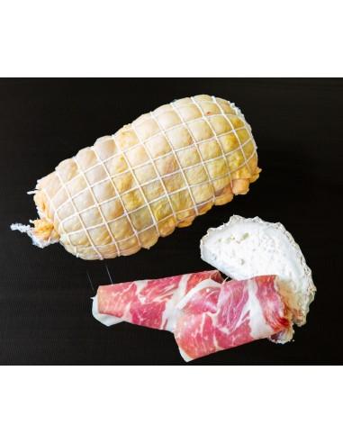 Muslo de pollo relleno de jamón...