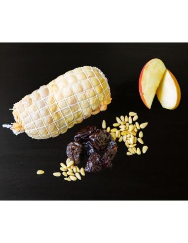 Cuixa de pollastre farcit de foie i poma